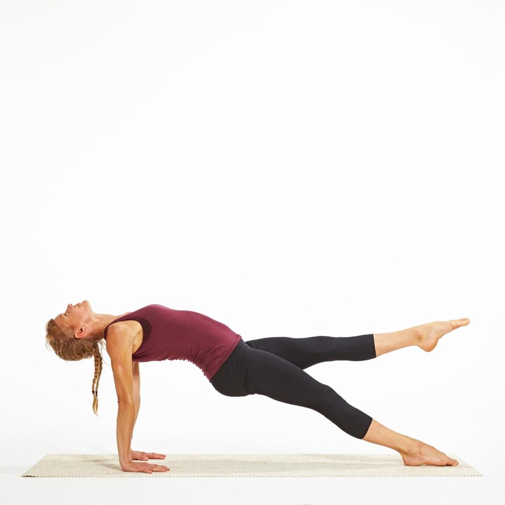 One-legged Reverse Plank Pose